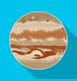 jupiter icon in flat style isolated on white vector image