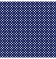 Seamless pattern with white polka dots on blue vector image vector image