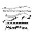 different keyboard for piano vector image