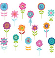 Cute Colorful Flower vector image vector image