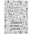 cooking food doodles vector image