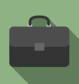 Briefcase with long shadow vector image