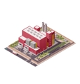 isometric factory buildings icon vector image