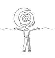 man meeting sun - success concept vector image