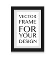 picture frame design for image or text vector image