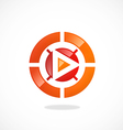 play video target logo vector image