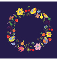 Summer and autumn circle with fllowers vector image