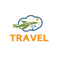 travel design template vector image