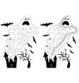 Easy ghost maze vector image
