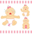 Cute cartoon small pink baby girl vector image vector image