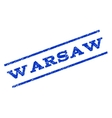 Warsaw Watermark Stamp vector image