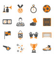 soccer two color icons set vector image