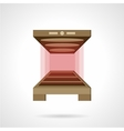 Bakery oven flat color icon vector image
