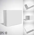 White Package Box SET vector image vector image