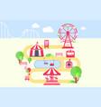 amusement park map infographic elements vector image