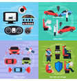 Car Safety Systems Template vector image