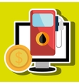 gas station isolated icon design vector image