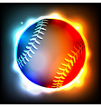 Glowing Baseball vector image