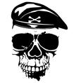grunge skull in beret vector image