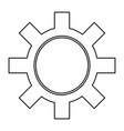 isolated gear tool vector image