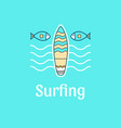 logo template surfing vector image