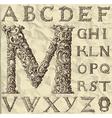 ornamental letter alphabet - vintage vector image