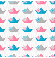 Paper boat pattern vector image