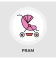 Pram flat icon vector image