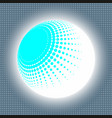 set abstract halftone 3d spheres 13 vector image