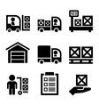 Warehouse Storage and Logistic Icons Set vector image