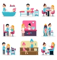 Beauty Salon People Flat Collection vector image