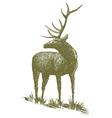 Woodcut Elk vector image vector image