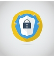 Flat icon with lock vector image