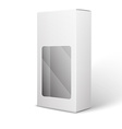 White Product Package Box Isolated On White vector image