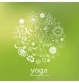 yoga logo in green vector image
