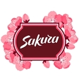 Japanese sakura background with stylized flowers vector image vector image