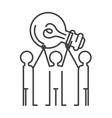 Creative brainstorm icon idea concept background vector image
