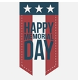 Happy Memorial Day vintage Label with Text vector image