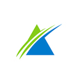 business finance triangle abstract blue logo vector image