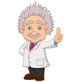 Cartoon professor thinkning vector image