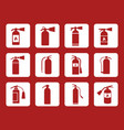 fire extinguisher sign and icons vector image