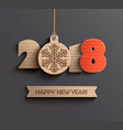 happy new year 2018 design vector image