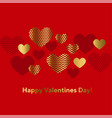 modern luxury valentines day abstract vector image