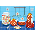 Morning stillife with cup and teapot vector image