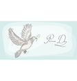 Peace dove symbol texture background EPS10 file vector image