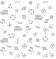 Seamless pirate monochrome pattern vector image