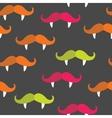 Seamless vampire mustache pattern vector image