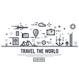 Travel the world linear vector image