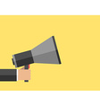 Hand with megaphone vector image