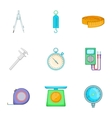 Tools for different kind of calculations icons set vector image